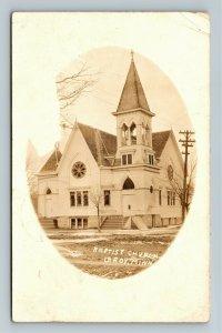 RPPC LeRoy MN, First Baptist Church, Vintage Minnesota c1914 Postcard