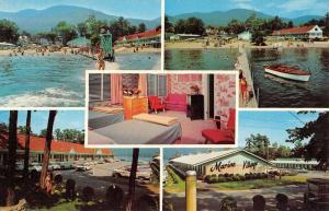 Lake George Village New York Marine Resort Motel Vintage Postcard K96232