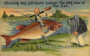 Exaggeration Old Vintage Antique Postcard Post Card