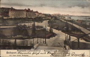 Budapest hungary Margitpark Used 1903 Postcard
