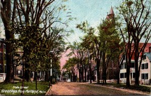 Maine Portland Greetings Showing State Street 1910
