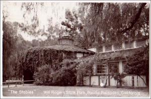 RPPC, The Stables, Will Rogers State Park, Pacific Palisades