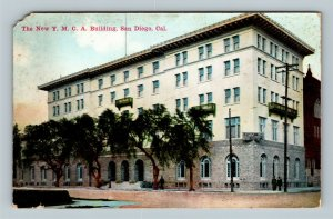 San Diego CA, New Y.M.C.A. Building, Opened 1924, Vintage California Postcard
