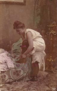 RP: [tinted] , Woman undressing , 1904 : Photographer A.G. STEGLITZ