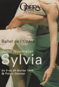 John Neumeier Sylvia Paris National Opera Advertising Postcard