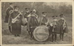 Wilmington DE Brown's Family Orchestra - Music Real Photo Postcard c1910
