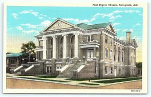 Postcard AR Paragould First Baptist Church