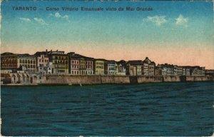 CPA Taranto Corso Vittorio Emanuele visto de Mar Grande ITALY (809324)