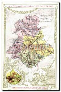 Old Postcard geographical maps of Chocolaterie & # 39Aiguebelle Haute Vienne ...