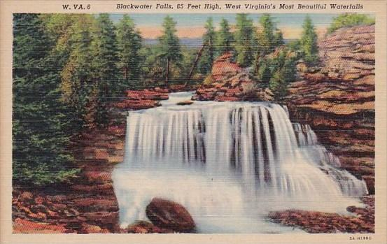 West Virginia Blackwater Falls 65 Feet High West Virginia's Most Beautiful Wa...