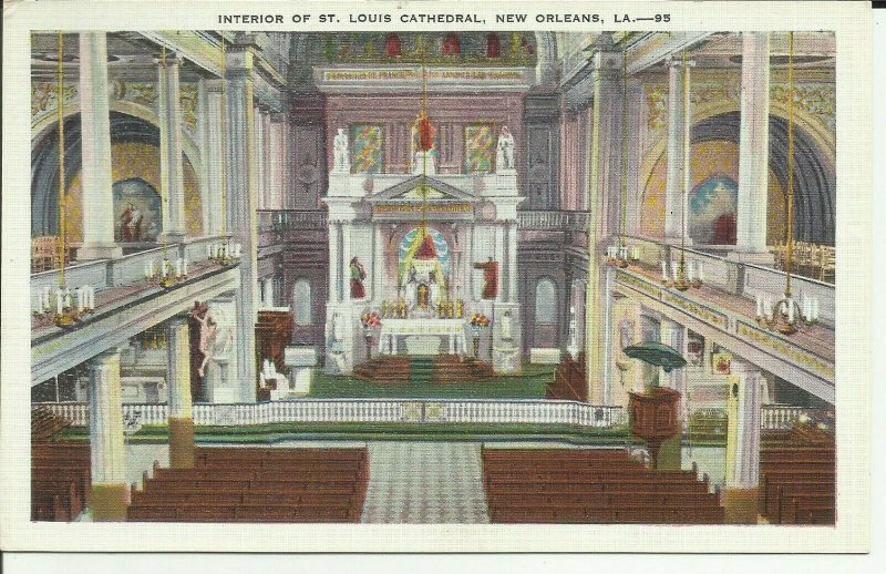 New Orleans, LA., Interior Of St. Louis Cathedral