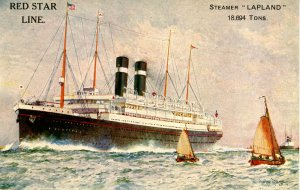 Red Star Line - SS Lapland.  Artist: Charles Dixon