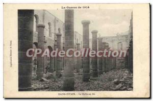 Old Postcard The War of 1914 Raon I'Etape Halle in wheat