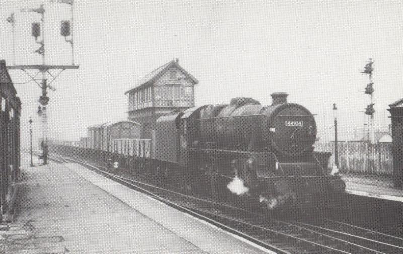 LMS 44934 Train Newton Heath Station Branch Freight Railway Postcard