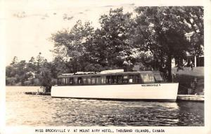 Thousand Islands Canada Miss Brockville Boat Real Photo Antique Postcard K80060