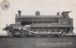 UK Railroad Train , 00-10s ; 4 Cylinder Compound Express Goods Engine