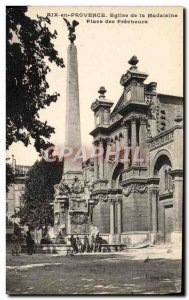 Old Postcard Aix En Provence Madeleine Church Square Preachers