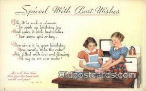 Spiced with best Wishes Religious Unused
