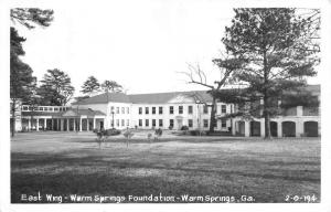 Warm Springs Georgia Foundation East Wing Real Photo Antique Postcard K10369