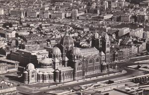 France Marseilles Vue aerienne sur Cathedrale 1956 Photo