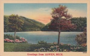 Michigan Greetings From Gowen