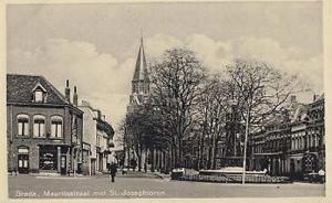 Breda Mauritstraat Holland Dutch Real Photo St Josephtoren Postcard