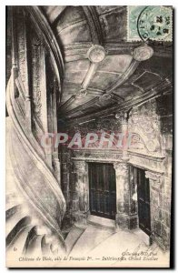 Old Postcard Chateau de Blois wing Francois I Interior Grand Staircase