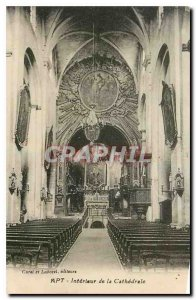 Old Postcard Apt Interior of the Cathedral