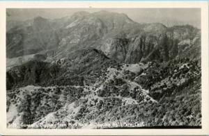 CA - Sequoia National Park, General's Highway from Moro Rock    *RPPC