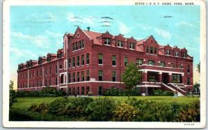 York, Nebraska Postcard STATE I.O.O.F. HOME Odd Fellows Orphanage 1933 Cancel