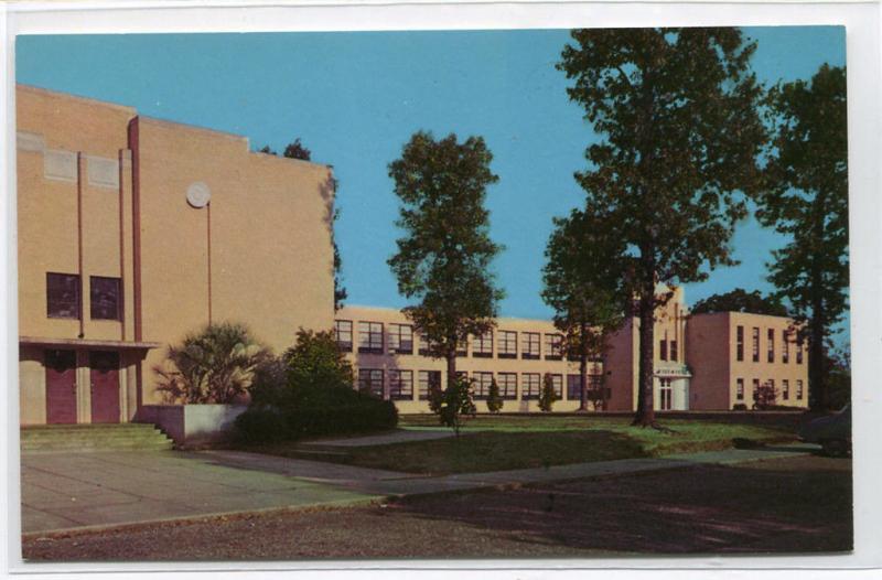 Gibson High School McComb Mississippi MS 1960s postcard