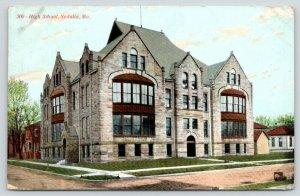 Sedalia Missouri~High School~Neighborhood Homes~Dirt Road Corner~1911 Postcard