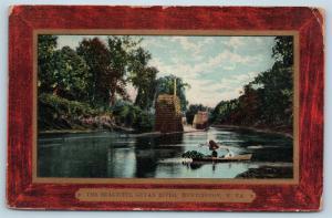 Postcard WV Huntington The Beautiful Guyan River 1913 View M1