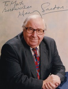 Henry Sandon BBC Antiques Roadshow Pottery Expert DOUBLE Hand Signed Photo