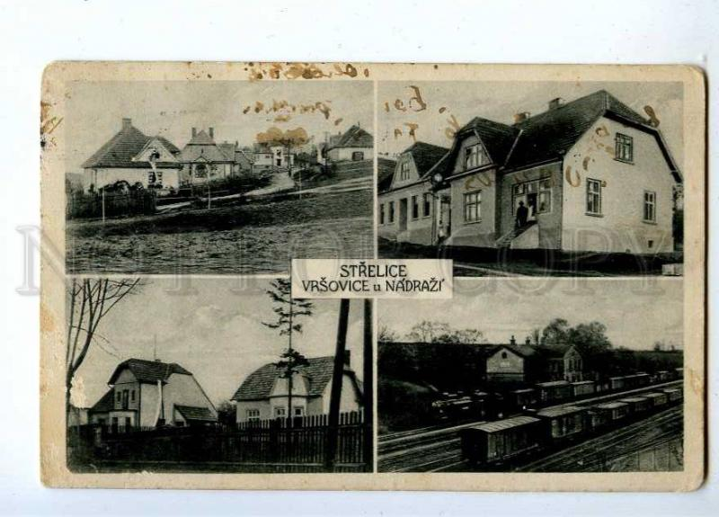 191514 WWII CZECH STRELICE Vintage collage postcard