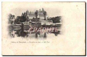 Old Postcard Chateau Pierrefonds Vue Prize Du Lac