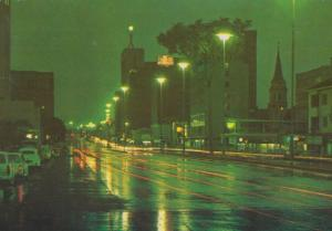 Samora Machel Avenue At Night Zimbabwe Postcard
