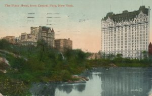 Plaza Hotel NYC, New York City - View from Central Park - pm 1910 - DB