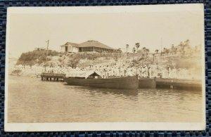 Vintage Postcard US Navy Transport Unknown Location RPPC