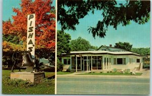 Sister Bay, Wisconsin Postcard PISHA'S RESTAURANT Door County Roadside c1950s