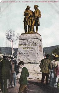 New York Lake George Battle Of Lake George Monument 1910