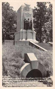 Marietta Georgia Cheatham Hill Monument Real Photo Postcard AA19275