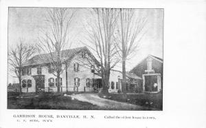 Danville New Hampshire~Garrison House Oldest House in Town~Bare Trees~c1905 PC