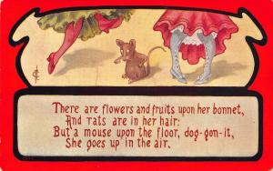F Cavally~Comic Poem~Flowers Fruit Bonnet~Rats in Hair~Mouse on Floor~Up in Air!