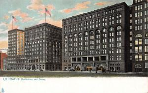 Auditorium & Annex, Chicago, Illinois, Early Tuck's Postcard, Unused