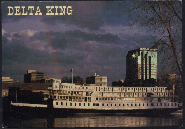 Riverboat Delta King colour PC Old Scaramento, California unused