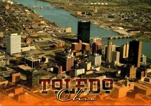 Ohio Toledo Aerial View Of Downtown
