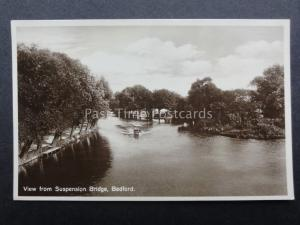 Bedfordshire: BEDFORD View from the Suspension Bridge - Old RP Postcard