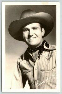 Singing Cowboy Western Movie Actor Gene Autry~Publicity Portrait~1940s RPPC