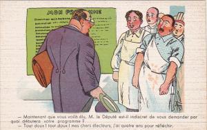 Political Comic postcard , France ,  10-30s # 12